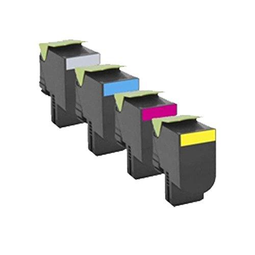 Set of 4 ECS Compatible Toner Cartridge For Lexmark Printer CS310dn CS310N CS410DN CS410DTN CS410N CS510DE CS510DTE