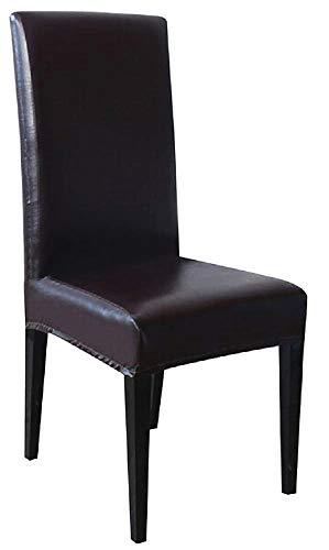 Funda para silla de piel sintética elástica con respaldo - Funda -...