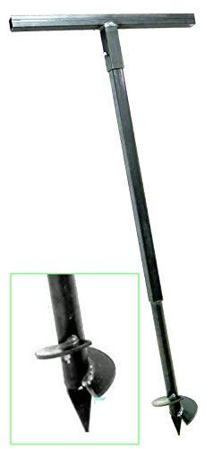 120 mm Erdbohrer Handerdbohrer Erdlochbohrer Pflanzbohrer Pfahlbohrer Lochspaten Erdlochausheber Pfostenbohrer