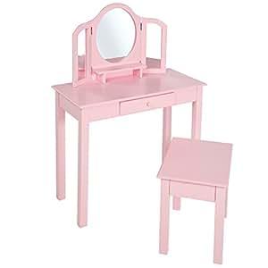 roba schmink frisiertisch m hocker kinder anrichte schminktisch mit schminkspiegel u. Black Bedroom Furniture Sets. Home Design Ideas