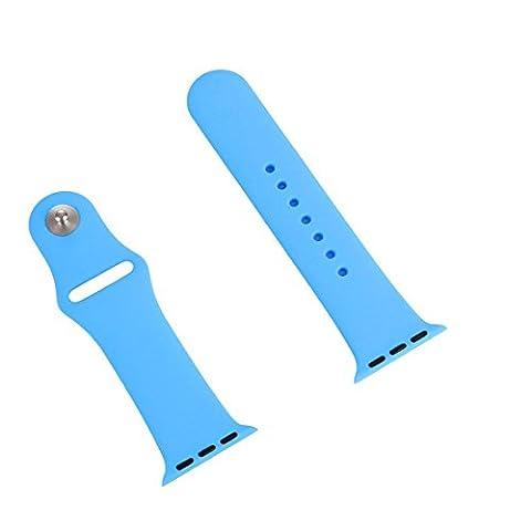 Apple Watch Sangle 38mm Série 2, série 1, iWatch Band 38mm souple en silicone Bracelet sport de remplacement pour Apple montre Series1Series2