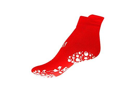 R-evenge Kinder Pool Socke Schwimmsocken, Badeschuhe, Pool Schuhe, Baby Jungen Mädchen Anti-Rutsch Socke Antibakteriell (Rot, Gr XS Schuhgrösse 20-24) -