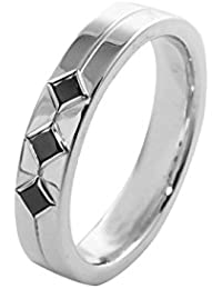 Alliance Homme - Or blanc 18 cts - Diamant Noir 0.3 cts - 9BH06WDNH