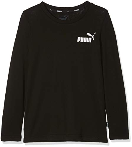 Puma Jungen ESS Logo Longsleeve Tee B T-Shirt, Cotton Black, 140
