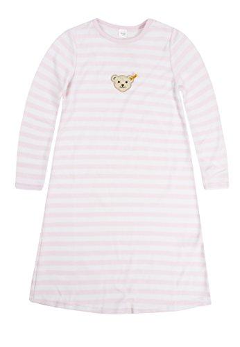 Steiff Mädchen Nachthemd 1/1 Arm, Gestreift, Gr. 146, Rosa (barely pink|rose 2560)