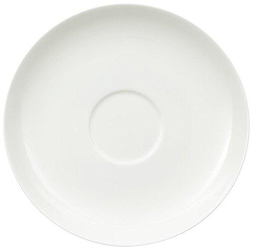 Villeroy & Boch Royal Café au Lait- Untertasse XL, 18 cm, Premium Bone Porzellan, Weiß