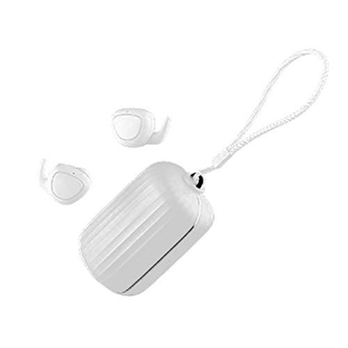 LQIANBluetooth KopfhöRer In Ear 5 Stunden Wiedergabe, KopfhöRer-Drahtloser Wahrer Drahtloser KopfhöRer Mit Ladekasten 3000 Milliamperestunde, Mini-FunkkopfhöRer SportkopfhöRer Bluetooth 5.0 (Weiß)