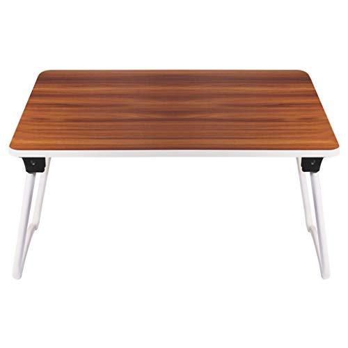 Vimele Lit Table Pliante Ordinateur Portable Table Dortoir Lazy Petit Bureau Extérieur Léger Portable Multi-Fonction Bureau (Couleur : Brown)