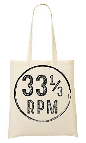 Vinyl 33 RPM Design Tragetasche Einkaufstasche