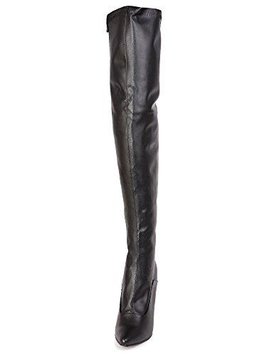 hwarze Hohe Stiefel Schwarz UK 12 | US 14 | EU 47 (Lady Killer Kostüm)