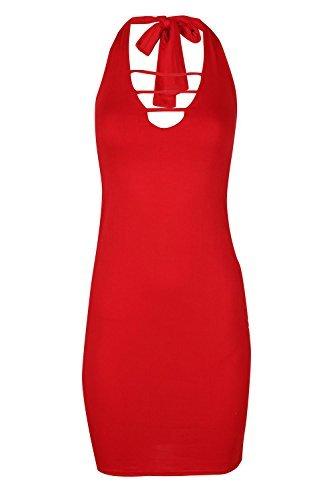 Fashion Star -  Vestito  - Senza maniche  - Donna Red