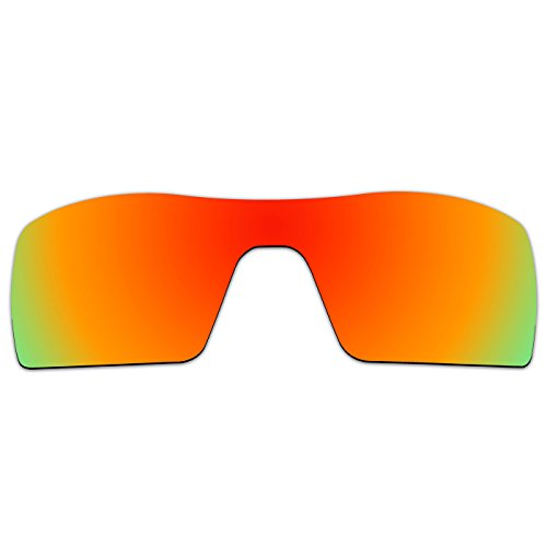 ACOMPATIBLE Ersatz Objektive für Oakley Oil Rig II Sonnenbrille Gen 2, Fire Red Mirror - Polarized