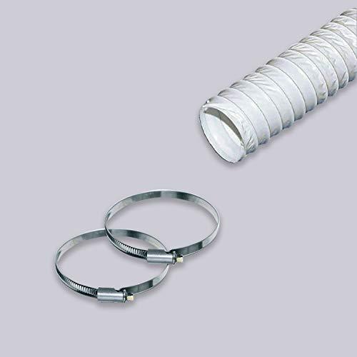 Flexibler Abluftschlauch 3 Meter / 125 mm PVC Schlauch