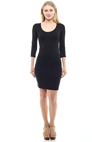 2LUV Damen Kleid Gr. L, schwarz (Tween Dressy Kleider)