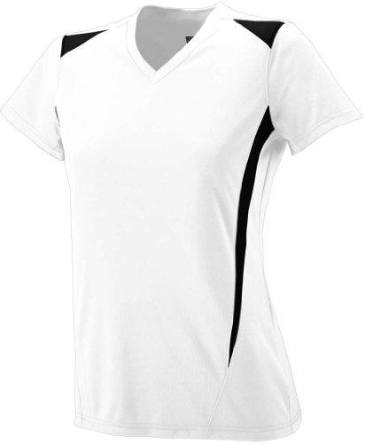 Augusta - T-shirt de sport - Femme Blanc/noir