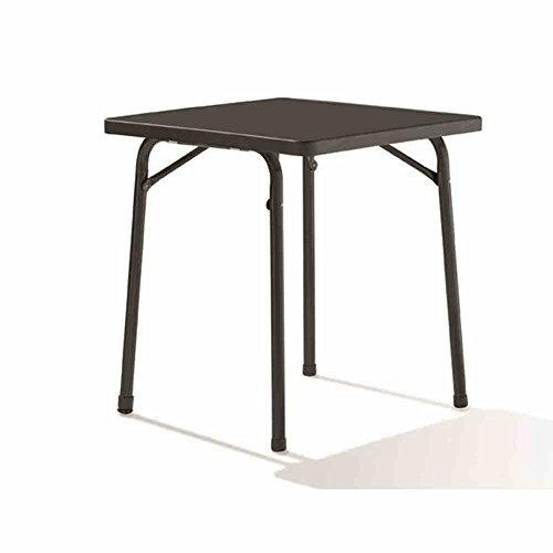 Sieger 211/G Table de Jardin Carré Acier Gris 70 x 70 cm