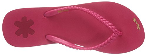 flip*flop slim chica Damen Zehentrenner Pink (613 rose red)