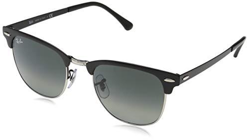 Ray-Ban Unisex-Erwachsene 0RB3716 911871 51 Sonnenbrille, Silver On Top Matte Black/Greygradientdarkgrey