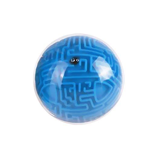Newin Star Mini 3D Magic Maze Puzzle-Ball Cube Spiel Globe Sphere Masse Labyrinth Spielzeug Denkaufgabe Spiel Lernen Bildung Puzzle Spielzeug Geschenke Blue (Hart Schwierigkeitsgrad) - Star Globe