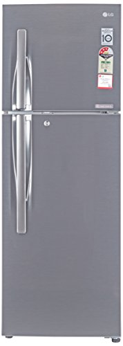 LG 284L 3 Star Frost Free Double Door Refrigerator (GL-C302RPZU, Shiny Steel, Inverter Compressor)