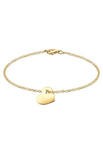 Elli Damen Armband mit Herz Symbol Liebe Cut-Out in 925 Sterling Silber - 18cm Länge
