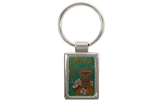 LEotiE SINCE 2004 Schlüsselanhänger Nostalgie Tiki Bar 24 Stunden Bedruckt (Tikis 24)