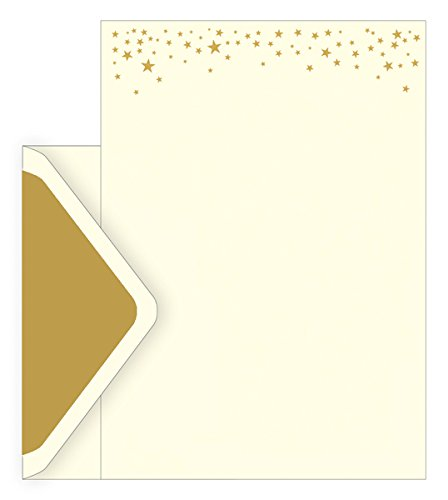 88fa467ce0c The Art File Boxed Notecards - Stars Design - Set Of 10 Letterheads
