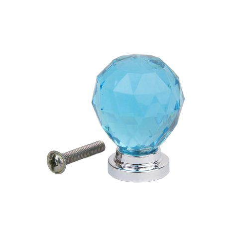 1Pc Acrylic Drawer/Cabinet/Bin/Door/Cupboard Pull Knob---Blue Test