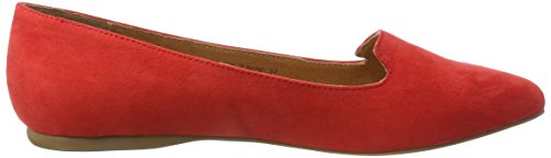 Bianco Damen Spitzer Loafer 25-49347 Slipper Rot (Red)