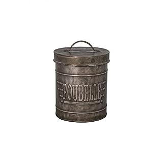 Tisch Abfalleimer Mülleimer, Zink
