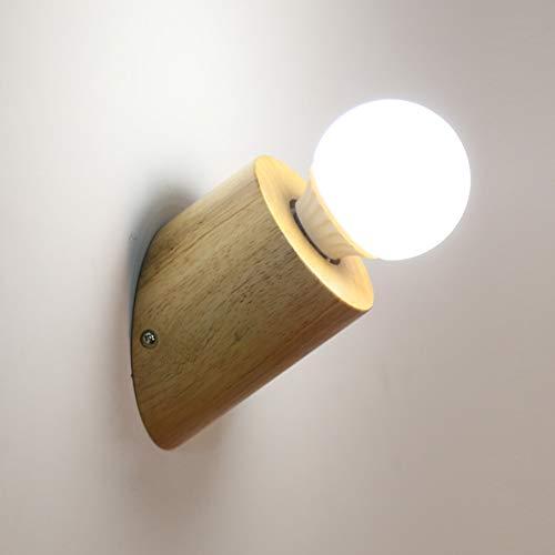CUICANH Korridor Gänge Wandlampe, Moderner Nordischer Mini Hardwired Holz Nachttischlampe Surface-mount Wandlampen Für Schlafzimmer Treppen Innen Wandleuchten-a 10x13cm -