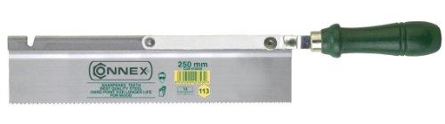Connex COX810250 Scie à dos plat avec manche en bois 14 dents par pouce 250 mm Repliable