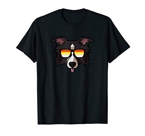 Gay Border Collie mit Sonnenbrille - Cute Gay Pride Dog T-Shirt