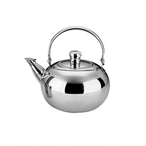Wasserkessel Edelstahl Kaffeekanne Teekanne aus Edelstahl für einen perfekten, per Hand aufgegossenen Filterkaffee, Wasserkocher Geeignet für Gasherd/Induktionsherd/Elektroheizung 1L/1.5L/2.5L.