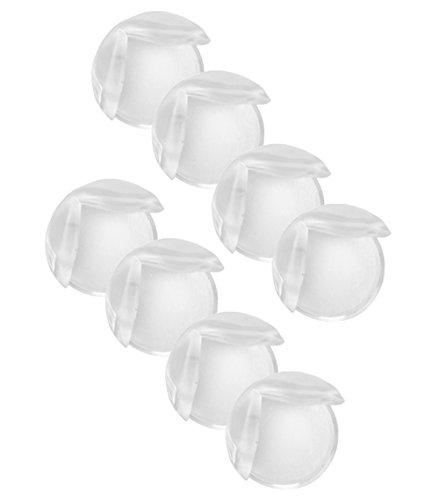 COM-FOUR® Tisch-Eckschutz Silikon Stoßschutz zum Schutz für Babys und Kleinkinder transparent mit stark haftendem Klebeband (08 Stück)