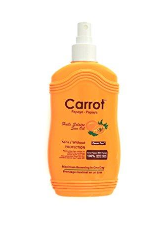 Carrot Sun® Papaya Tan Accelerator Spray Oil with Papaya Oil & L-Tyrosine for a GOLDEN tan-FAST! 200ml