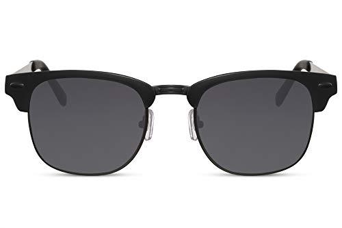 Cheapass Sunglasses Sonnenbrillen Schwarz Metal rechteckig Herren UV400 geschützt