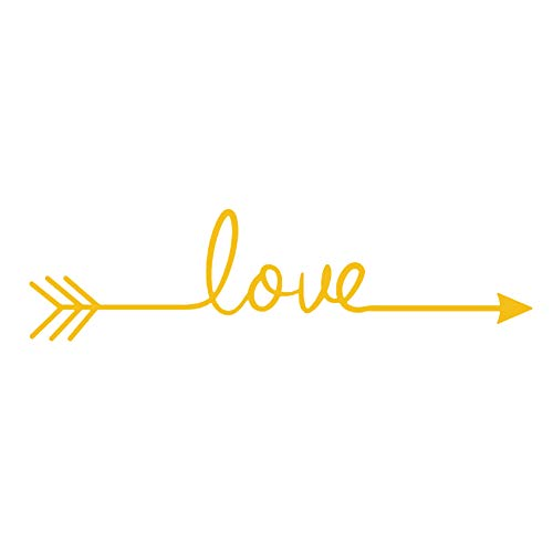 OuYou Stickers Muraux Décoration Murale Autocollants Motif Love pour Salon Cuisine Chambre Maison Restaurant 60CM X 140CM (Jaune)
