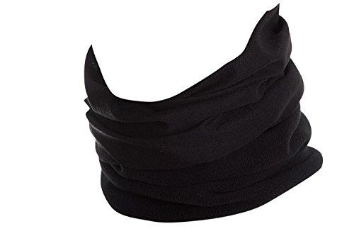 Hilltop Polar Multifunktionstuch mit Fleece, Kopftuch, Halstuch viele Farben, Farbe Polar Tuch:Schwarz -