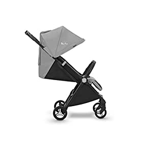 Silver Cross Jet Stroller, Sterling Silver GSDZSY ❀ Material: high carbon steel + ABS + rubber wheel (non-inflated) ❀ Features: Tricycle can be folded, push rod can be adjusted height, suitable for people of different heights; seat can be adjusted, parasol can be adjusted, suitable for different weather, rear wheel with brake ❀ Performance: high carbon steel frame, strong and strong bearing capacity; rubber wheel anti-skid and wear-resistant, suitable for all kinds of road conditions, good shock absorption, seat with breathable fabric, baby ride more comfortable 10
