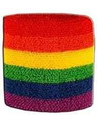 Digni® Poignet éponge avec drapeau Arc en ciel - Pack de 2 pièces