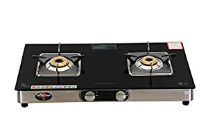 Suryaflame 2B Marvel Stainless Steel 2 Burner Glasstop Gas Stove