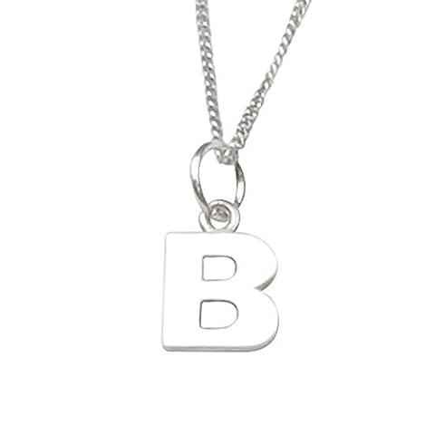 Bague en argent sterling initiale de la fille de la fleur B pour les mariages - Gravure gratuite et ruban personnalisé de la boîte personnalisée - Garantie 12 mois