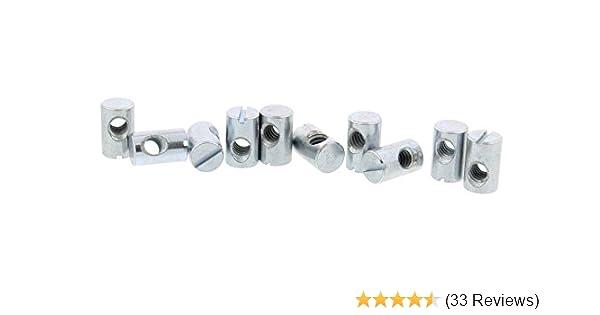 Cross Dowels 1//4-20 20mm X 10mm Zinc-Plated CNC 12 Barrel Nuts
