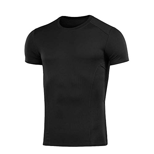 M-Tac Herren Tactical Workout T-Shirt Athletic Vent Short Sleeve Military Army Shirt - Schwarz - Klein
