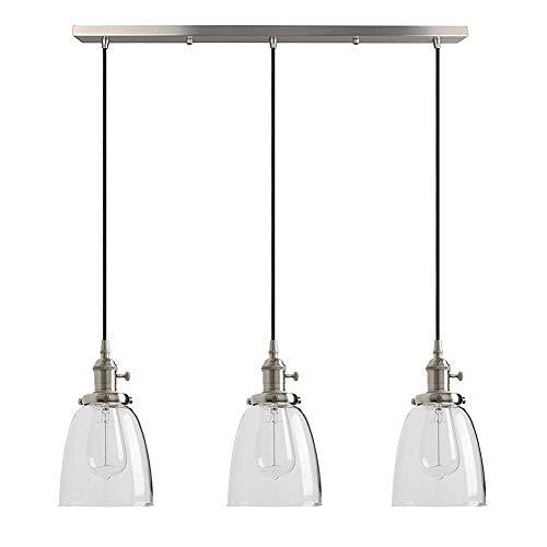 KAD Kronleuchter Pendelleuchte Retro Esszimmer Lampe Anhänger Runde Glas Schatten Deckenlampe Pendelleuchte Für Wohnzimmer Restaurant Café Bar asdadrfewddxcfg -