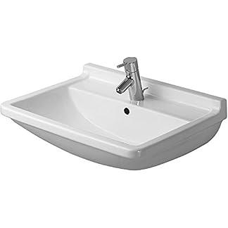 Duravit Waschtisch Starck 3 600 mm, mit 3 Hahnlöcher, weiß, 0300600030