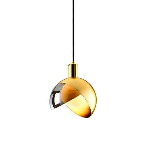 Wylolik Moderne Einfachheit Kronleuchter Leuchte Persönlichkeit Showroom Pendelleuchten Kühle Goldene Glasschirm Poliert Hängende Leuchte Spiegel Licht Foyer Kronleuchter Dekoration Esszimmer -