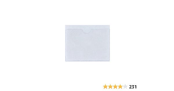 Fgf Eu Transparent Selbstklebende Parkscheininhabers Pack 1 Ticket Und Hinweis Sticky Back Protect Cover Für Auto Abzeichen Windschutzscheibe Auto