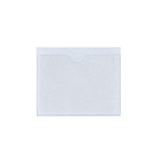 FGF-EU Trasparente Autoadesivo Supporto per il permesso di parcheggio Confezione da 1 biglietto e Nota Adesivo posteriore Proteggi copertura per Auto, Distintivi, Parabrezza